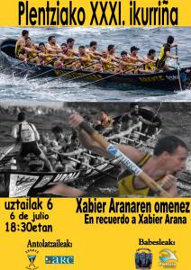 Plentziako XXX. ikurriña – en recuerdo a Xabi Arana