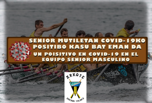COVID-19ko positibo kasu bat eman da senior mutilen taldean